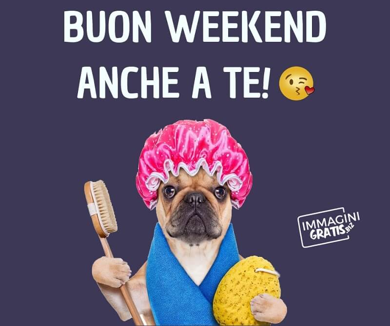 buon weekend anche a te